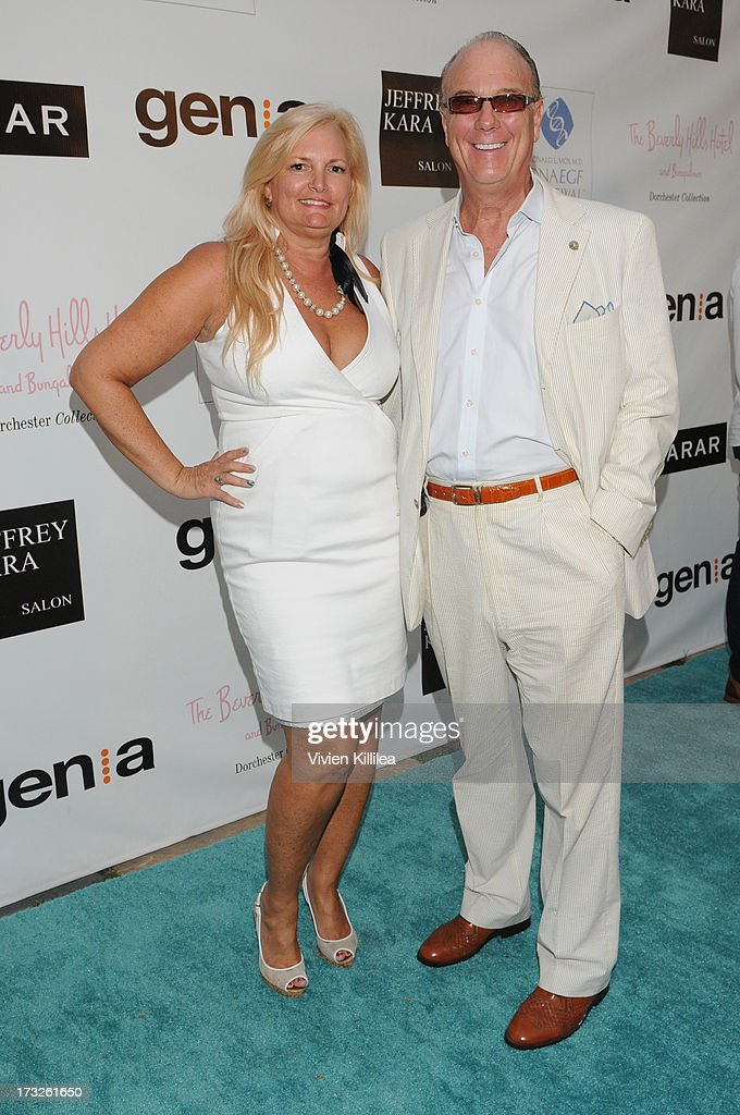 Nadine Jolson of Jolson Creative and Malcolm McLean attends Gen:A And Michael Hogg Presents The Summer Soiree Of Season And The Agenostic Man Book Launch at Beverly Hills Hotel on July 10, 2013 in Beverly Hills, California.