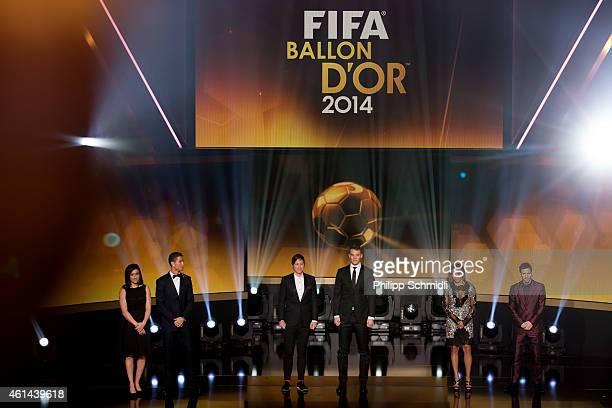 Nadine Kessler of Germany and VfL Wolfsburg Cristiano Ronaldo of Portugal and Real Madrid Abby Wambach of USA and Western New York Flash Manuel Neuer...