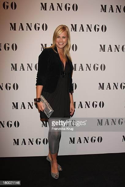 """Nadine Krüger Bei Der Fashionparty """"10 Jahre Mango In Deutschland"""" Im Ewerk In Berlin ."""