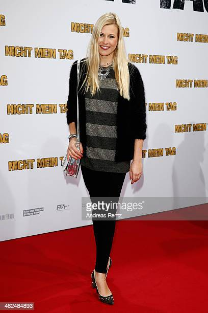 Nadine Krueger attends the premiere of the film 'Nicht mein Tag' at CineStar on January 13 2014 in Berlin Germany