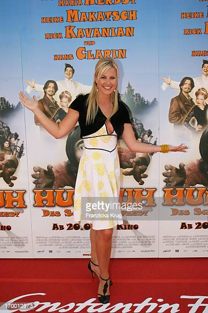 """Nadine Kruger At The Premiere Of """"Hui Buh - The Goofy Ghost"""" At The Mathäser movie palace in Munich 160706."""