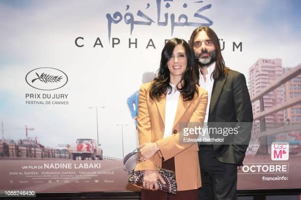 Nadine Labaki writer and director of the Cannes 2018 award winning Lebanese drama film Capharnaum is seen during the Capharnaum Paris Premiere...