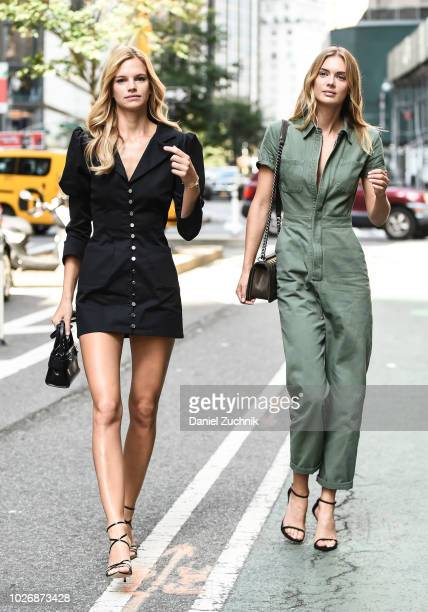 Nadine Leopold and Megan Williams attend the casting for the 2018 Victoria's Secret Show in Midtown on September 4 2018 in New York City