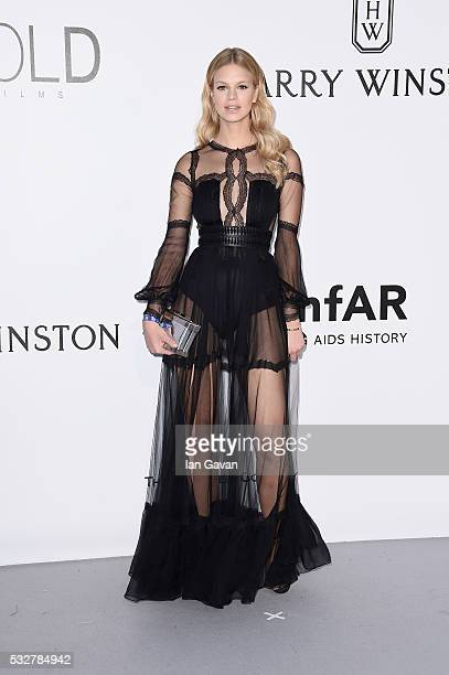 Nadine Leopold arrives at amfAR's 23rd Cinema Against AIDS Gala at Hotel du CapEdenRoc on May 19 2016 in Cap d'Antibes France