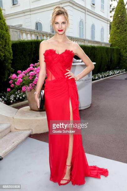 Nadine Leopold arrives at the amfAR Gala Cannes 2017 at Hotel du CapEdenRoc on May 25 2017 in Cap d'Antibes France