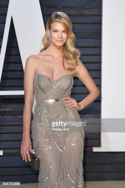 Nadine Leopold attends the 2017 Vanity Fair Oscar Party hosted by Graydon Carter at Wallis Annenberg Center for the Performing Arts on February 26...