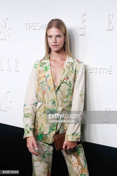 Nadine Leopold attends the ELLE E IMG Host A Celebration of Personal Style NYFW Kickoff Party at 5 Doyers St on September 6 2017 in New York City