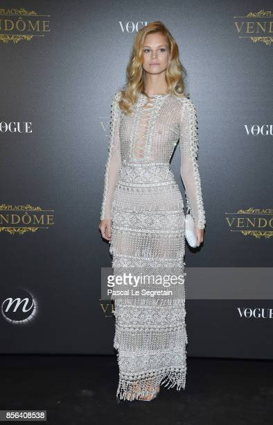Nadine Leopold attends the Irving Penn Exhibition Private Viewing Hosted by Vogue as part of the Paris Fashion Week Womenswear Spring/Summer 2018 on...
