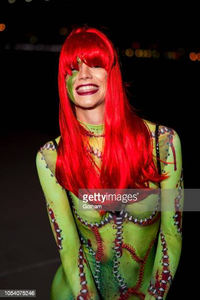 Nadine Leopold attends the V Magazine Halloween Party presented by Chanel at Jane's Carousel on October 26 2018 in Brooklyn New York