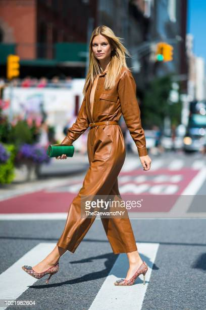Nadine Leopold is seen in the Flatiron District on August 23 2018 in New York City