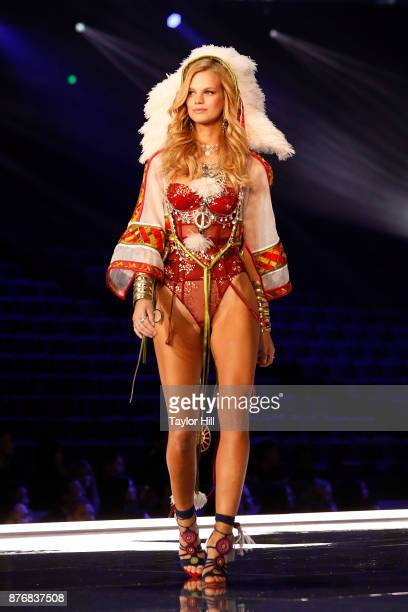 Nadine Leopold walks the runway during the 2017 Victoria's Secret Fashion Show at MercedesBenz Arena on November 20 2017 in Shanghai China