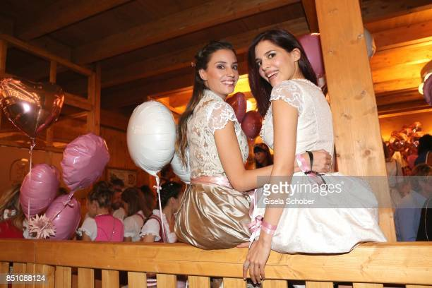Nadine Menz and Yasmin Lord at the 'Madlwiesn' event during the Oktoberfest at Theresienwiese on September 21 2017 in Munich Germany