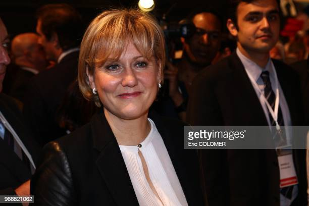 Nadine Morano attends the first big meeting for french president Nicolas Sarkozy in campaign for 2012 presidential election on February 19 2012 in...