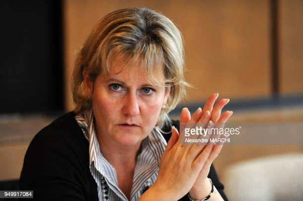 Nadine Morano Secretaire d'Etat chargee de la Famille aupres du ministre du Travail des Relations sociales de la Famille et de la Solidarite