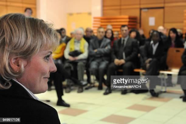 Nadine Morano Secretaire d'Etat chargee de la Famille aupres du ministre du Travail des Relations sociales de la Famille et de la Solidarite...