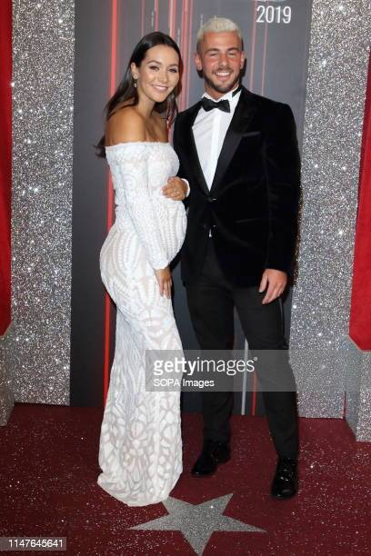 Nadine Mulkerrin and Rory Douglas Speed arrive on the red carpet during The British Soap Awards 2019 at The Lowry, Media City, Salford in Manchester.