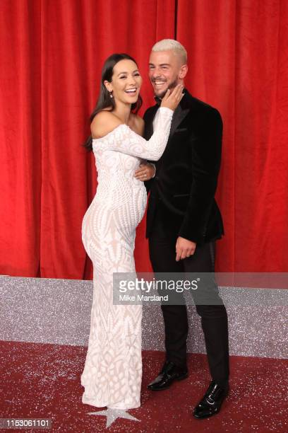 Nadine Mulkerrin and Rory Douglas Speed attend the British Soap Awards at The Lowry Theatre on June 01 2019 in Manchester England