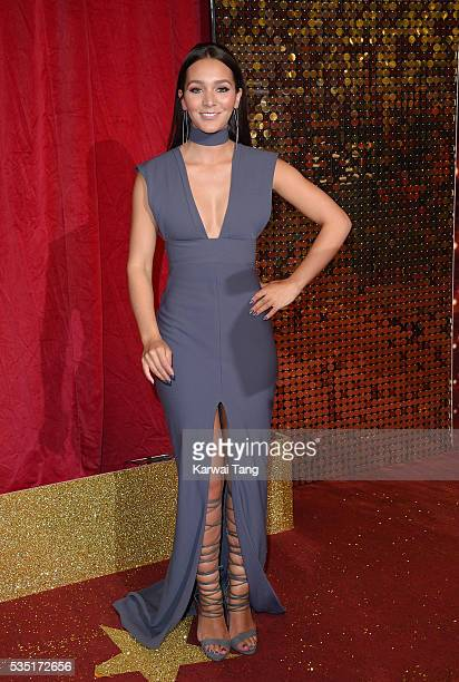 Nadine Mulkerrin arrives for the British Soap Awards 2016 at the Hackney Town Hall Assembly Rooms on May 28 2016 in London England
