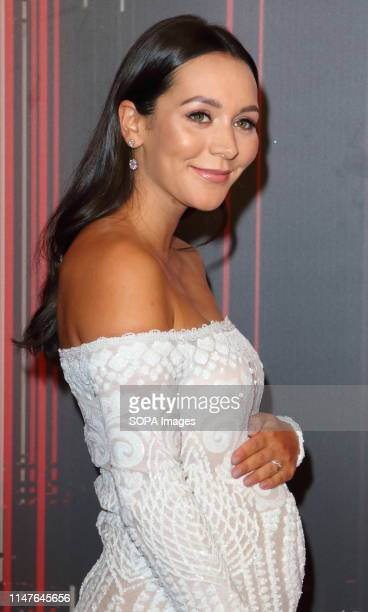Nadine Mulkerrin arrives on the red carpet during The British Soap Awards 2019 at The Lowry, Media City, Salford in Manchester.