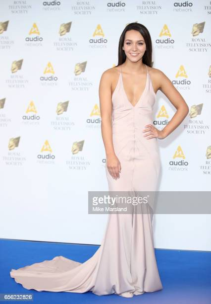 Nadine Mulkerrin attends the Royal Television Society Programme Awards on March 21 2017 in London United Kingdom