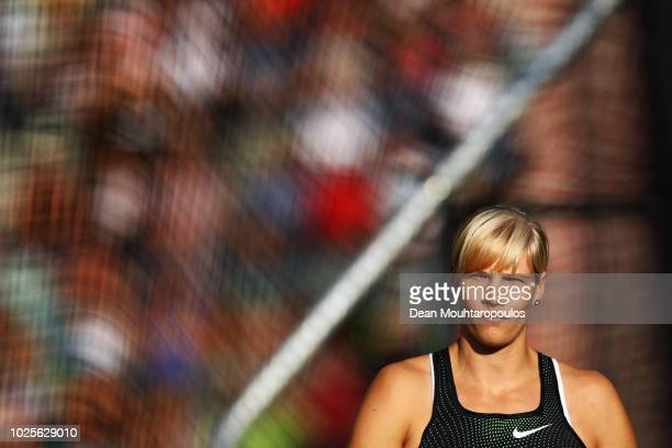 Nadine Muller of Germany competes in the women's discus throw during the IAAF Diamond League AG Memorial Van Damme at King Baudouin Stadium on August...