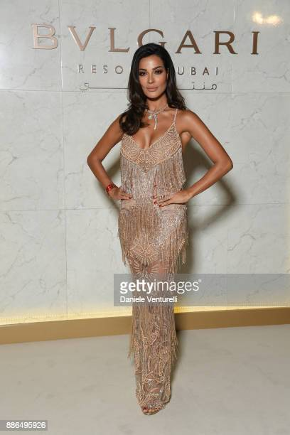Nadine Nassib Njeim attends the Grand Opening of Bulgari Dubai Resort on December 5 2017 in Dubai United Arab Emirates