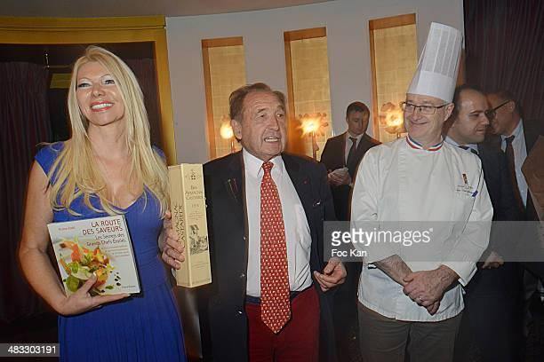 Nadine Rod publisher Jean Castarede and chef Jean Yves Leuranguer attend 'La Route Des Saveurs Les Secrets Des Grands Chefs Etoiles' Nadine Rodd's...