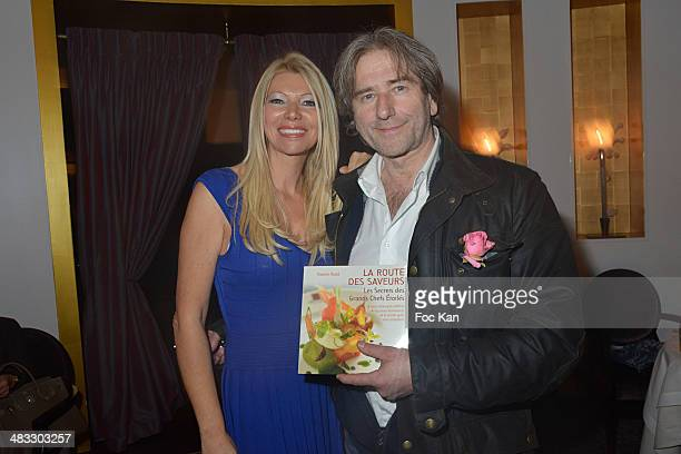 Nadine Rodd and Chef Baker Jean Luc Poujauran attend 'La Route Des Saveurs Les Secrets Des Grands Chefs Etoiles' Nadine Rodd's Launch Book At the...