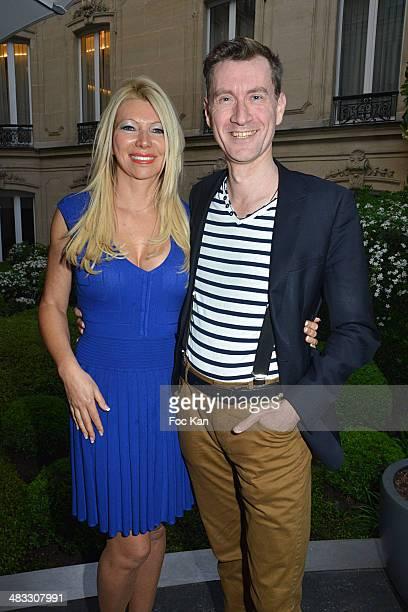 Nadine Rodd and counter tenor singer Yann Golgevit attend 'La Route Des Saveurs Les Secrets Des Grands Chefs Etoiles' Nadine Rodd's Launch Book At...