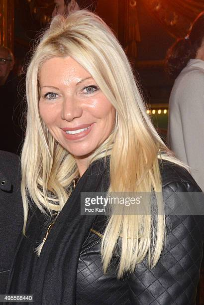 Nadine Rodd attends the 'Belcanto' The Luciano Pavarotti Heritage Premiere at Folies Bergere on November 3 2015 in Paris France