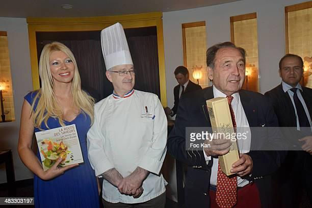 Nadine Rodd chef Jean Yves Leuranguer and publisher Jean Castarede attend 'La Route Des Saveurs Les Secrets Des Grands Chefs Etoiles' Nadine Rodd's...