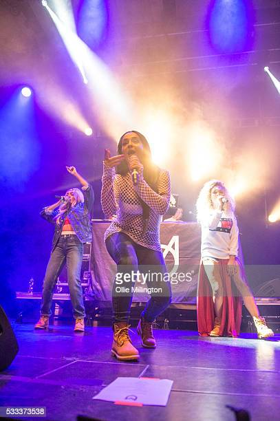 Nadine Samuels Annie Ashcroft and Frankee Connolly of MO perform onstage at The Brighton Dome on Day 3 of The Great Escape 2016 on May 21 2016 in...