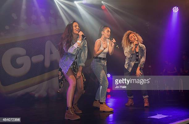 Nadine Samuels Annie Ashcroft and Frankee Connolly of MOperforms at GAY on August 23 2014 in London England