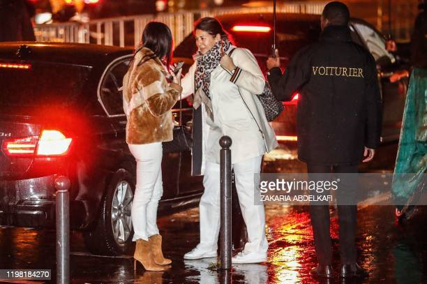 Nadine Santos arrives to attend the birthday party of her son Paris Saint-Germain's Brazilian forward Neymar on February 2 at the Yoyo in the Palais...
