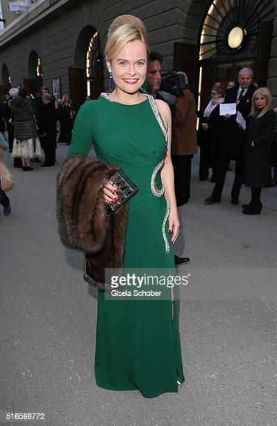 Nadine Schatz during the opening of the easter festival 2016 'Otello' premiere on March 19 2016 in Salzburg Austria