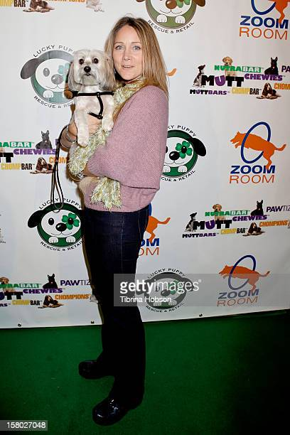 Nadine Stenovitch attends the Lucky Puppy Rescue and Retail grand opening on December 8 2012 at Lucky Puppy Rescue in Studio City California