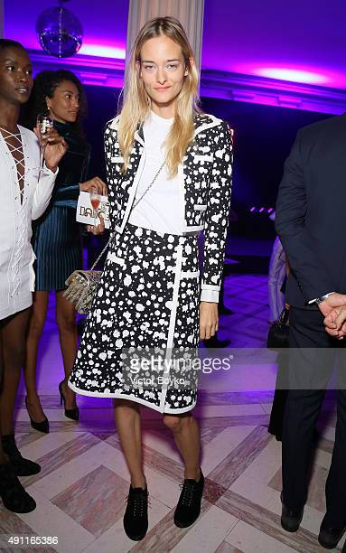 Nadine Strittmatte attends Vogue 95th Anniversary Party on October 3 2015 in Paris France