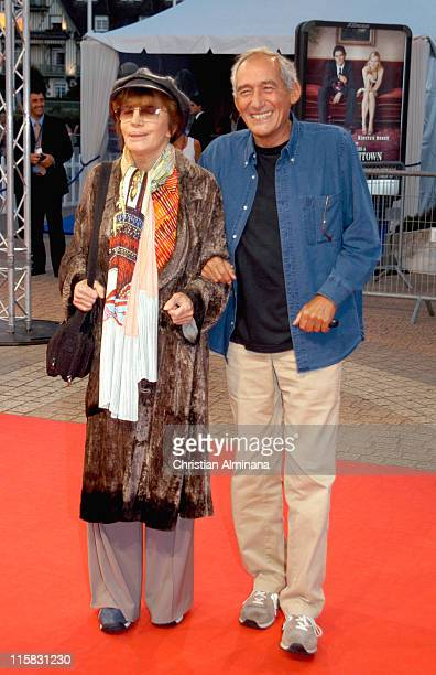 Nadine Trintignant and Alain Corneau during 31st American Film Festival of Deauville Bee Season Premiere in Deauville France
