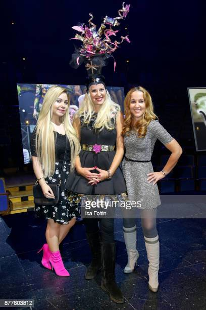 Nadine Trompka and Claudia Campus during the presentation of the new Lambertz calendar 2018 at Friedrichstadtpalast on November 22 2017 in Berlin...