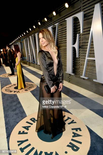 Nadine Velazquez attends the 2018 Vanity Fair Oscar Party hosted by Radhika Jones at Wallis Annenberg Center for the Performing Arts on March 4 2018...