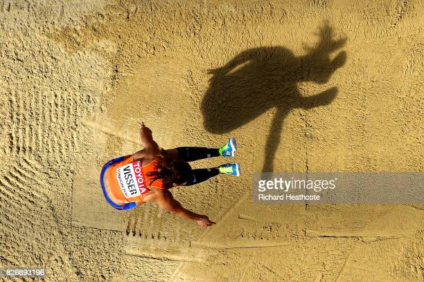 Nadine Visser of the Netherlands competes in the Women's Heptathlon Long Jump during day three of the 16th IAAF World Athletics Championships London...