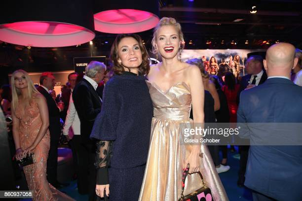 Nadine Warmuth and Franziska Knuppe during the 'Tribute To Bambi' gala at Station on October 5 2017 in Berlin Germany
