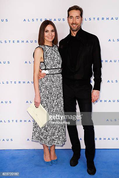 Nadine Warmuth and Joerg Oppermann attend the new Luxury Hall Opening of the Alsterhaus on November 16 2016 in Hamburg Germany