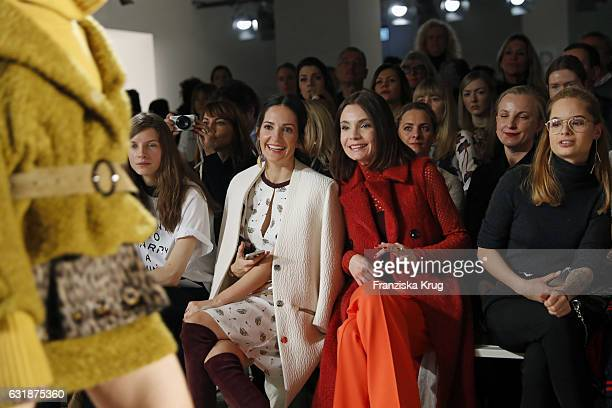 Nadine Warmuth and Johanna Klum attend the Dorothee Schumacher show during the Mercedes-Benz Fashion Week Berlin A/W 2017 at Kaufhaus Jandorf on...