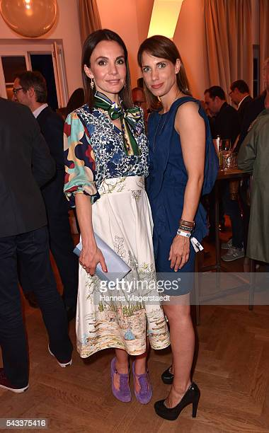 Nadine Warmuth and Pia Hart attend the UFA Fiction Reception during the Munich Film Festival 2016 at Cafe Reitschule on June 27 2016 in Munich Germany