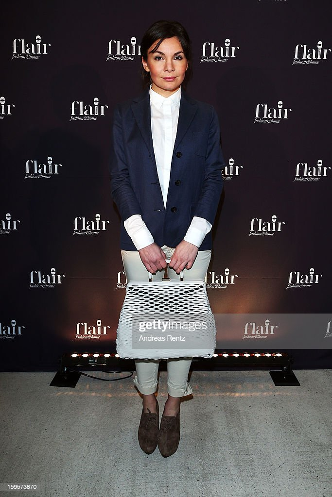 Nadine Warmuth attends Flair Magazine Party at Pariser Platz 4 on January 15, 2013 in Berlin, Germany.
