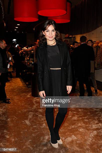 Nadine Warmuth attends the opening of the 'Peuterey' store on October 25 2012 in Berlin Germany