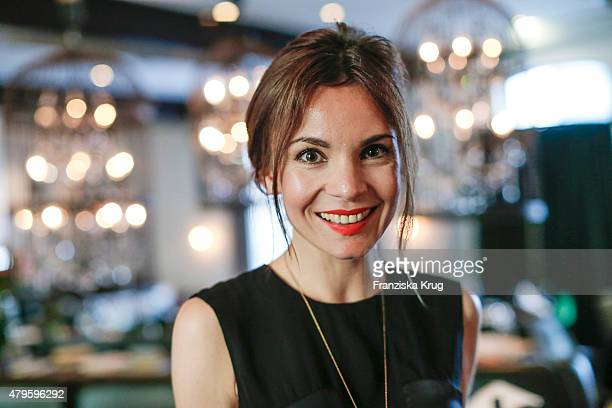 Nadine Warmuth attends the Wanawake Ladies Dinner at Hotel Zoo on July 05 2015 in Berlin Germany