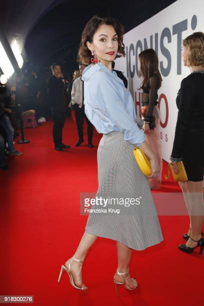 Nadine Warmuth attends the Young ICONs Award in cooperation with ICONIST at SpindlerKlatt on February 14 2018 in Berlin Germany