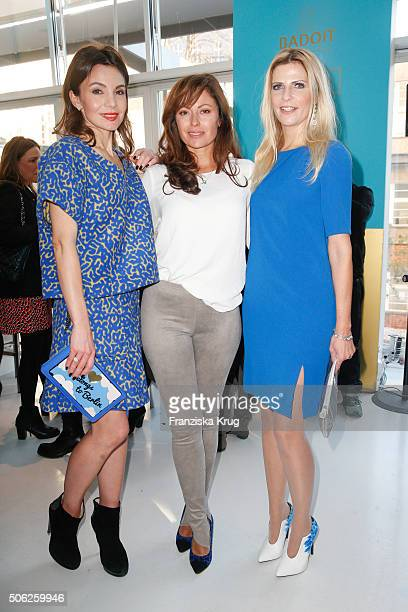 Nadine Warmuth Carolina Vera and Tanja Buelter attend the 'Gala' fashion brunch during the MercedesBenz Fashion Week Berlin Autumn/Winter 2016 at...